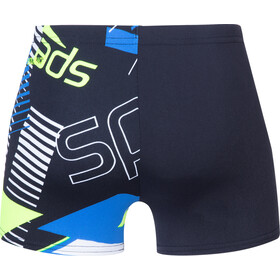 speedo Allover Short de bain Garçon, revival navy/bondi blue/fluo yellow